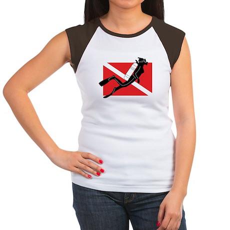 Girl SCUBA Diver Women's Cap Sleeve T-Shirt