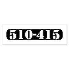 Bay Inmate (510-415) Bumper Bumper Sticker