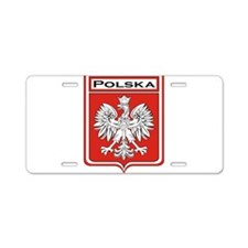 Polska Shield / Poland Shield Aluminum License Pla