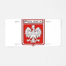 Polska Shield / Poland Shield Aluminum License Pla