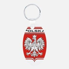 Polska Shield / Poland Shield Keychains