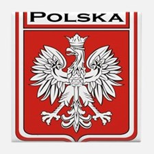 Polska Shield / Poland Shield Tile Coaster