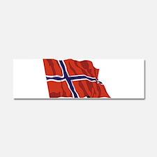 NORWAY-wavy.jpg Car Magnet 10 x 3