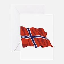 NORWAY-wavy.jpg Greeting Card