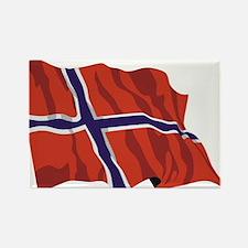NORWAY-wavy.jpg Rectangle Magnet