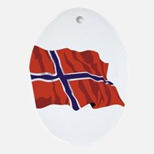 NORWAY-wavy.jpg Ornament (Oval)