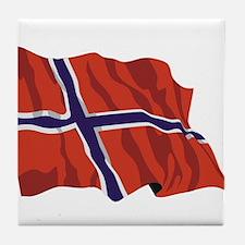 NORWAY-wavy.jpg Tile Coaster