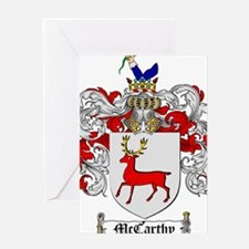 McCarthy Family Crest Greeting Card