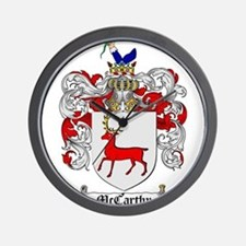McCarthy Family Crest Wall Clock
