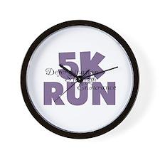 5K Run Purple Wall Clock