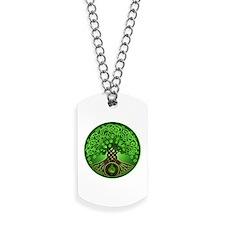 Circle Celtic Tree of Life Dog Tags