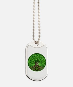 Circle Celtic Tree of Life Dog Tags