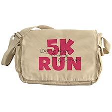 5K Run Pink Messenger Bag