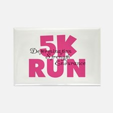 5K Run Pink Rectangle Magnet