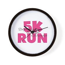 5K Run Pink Wall Clock