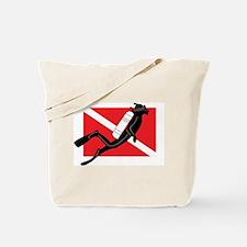 Male SCUBA Diver Tote Bag