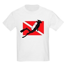 Male SCUBA Diver Kids T-Shirt