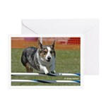 Jumping Corgi Greeting Cards (Pk of 10)