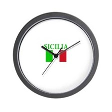 Cute Sicilian flag Wall Clock