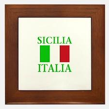 Sicilia, Italia Framed Tile
