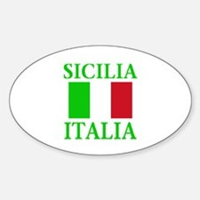 Sicilia, Italia Oval Decal