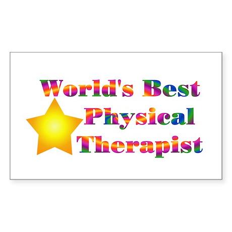 World's Best PT Rectangle Sticker