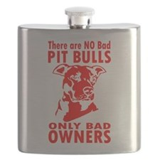 NO BAD PIT BULLS Flask