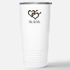 Mr. and Mr. Gay Pride Stainless Steel Travel Mug