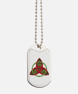 Celtic Holiday Knot Dog Tags