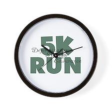 5K Run Teal Green Wall Clock