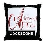 Addicted To Cookbooks Throw Pillow