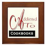 Addicted To Cookbooks Framed Tile