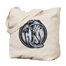 Distressed Wild Hippo Stamp Tote Bag