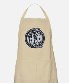 Distressed Wild Hippo Stamp Apron
