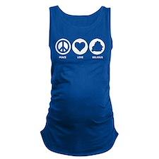 Peace Love Belarus Maternity Tank Top