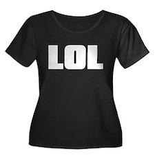 LOL Women's Dark Plus Size Scoop Neck T-Shirt