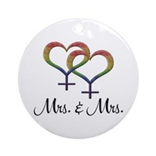 Mrs Mrs Ornament (Round)