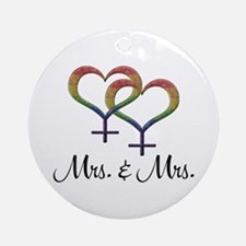 Mrs. & Mrs. Round Ornament