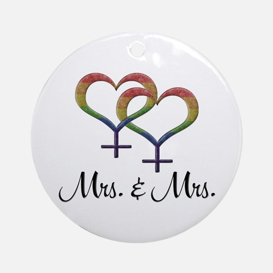 Mrs. & Mrs. Round Ornament