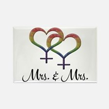 Mrs. & Mrs. Rectangle Magnet