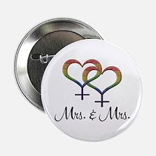 """Mrs. & Mrs. 2.25"""" Button"""