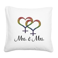 Mrs Mrs Square Canvas Pillow