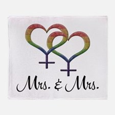 Mrs. & Mrs. Throw Blanket