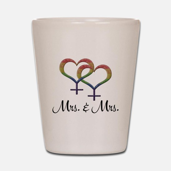 Mrs. & Mrs. Shot Glass