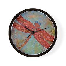 Dragonfly 2 Wall Clock