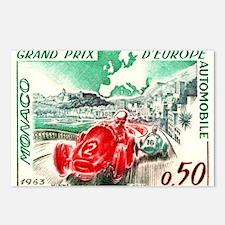 Vintage 1963 Monaco Gran Prix Race Postage Stamp P