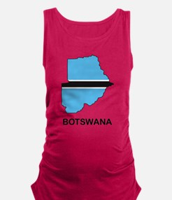Map Of Botswana Maternity Tank Top