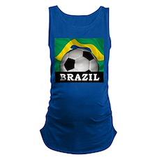 Brazil Football Maternity Tank Top