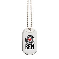 I Heart Ben - LOST Dog Tags