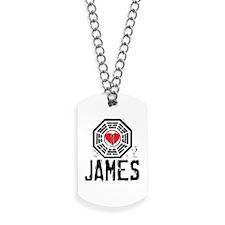 I Heart James - LOST Dog Tags